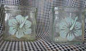 Glass candle holders № 20