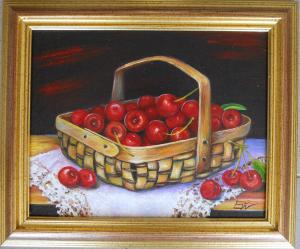 Cherries in a panier   №658