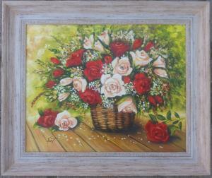Бели и червени рози. № 601