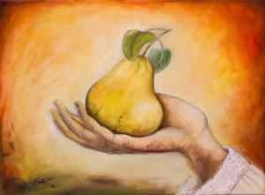 Yellow quince in the maternal hand   №458