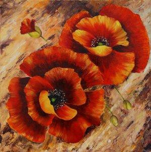 Пролетен триптих (макове)   №871